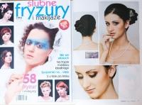 """publikacja """"ślubne fryzury i makijaże"""" makijaż fryzura ślubna Poznań"""